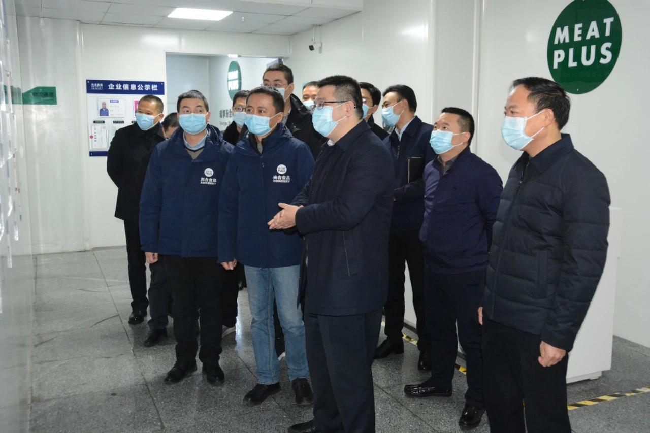 市委书记李云率队督导中小企业园冷链物流环节疫情防控安全工作